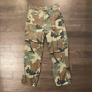 Topshop Camo Print Cargo Pants/Jeans
